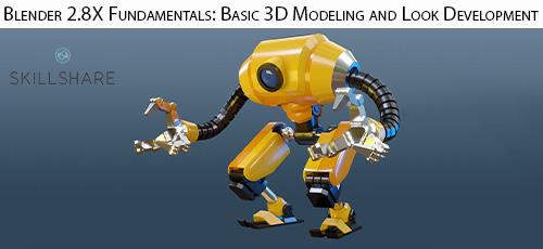 22 2 - دانلود Skillshare Blender 2.8X Fundamentals: Basic 3D Modeling and Look Development آموزش اصول و مبانی مدلسازی سه بعدی در بلندر 2.8