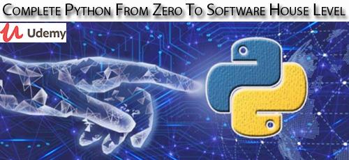 12 - دانلود Udemy Complete Python From Zero To Software House Level آموزش کامل مقدماتی پایتون