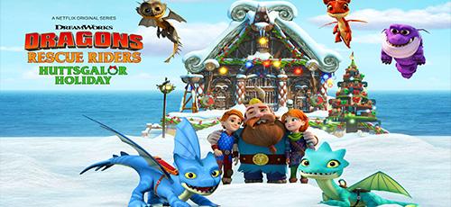 2 85 - دانلود انیمیشن Dragons: Rescue Riders: Huttsgalor Holiday 2020 با دوبله فارسی