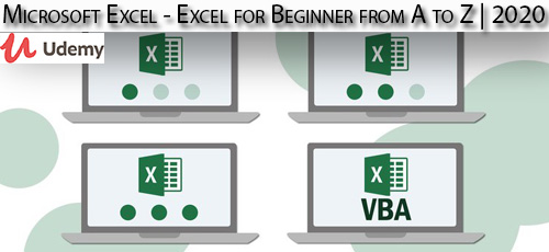 2 - دانلود Udemy Microsoft Excel - Excel for Beginner from A to Z | 2020 آموزش مقدماتی کامل مایکروسافت اکسل
