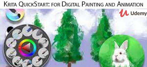 38 - دانلود Udemy Krita QuickStart: for Digital Painting and Animation آموزش سریع نقاشی دیجیتال و انیمیشن با نرم افزار کریتا