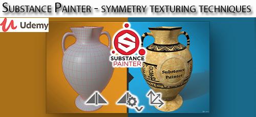 2 34 - دانلود Udemy Substance Painter - symmetry texturing techniques آموزش تکنیک های بافت تقارن در نرم افزار ساب استنس پینتر