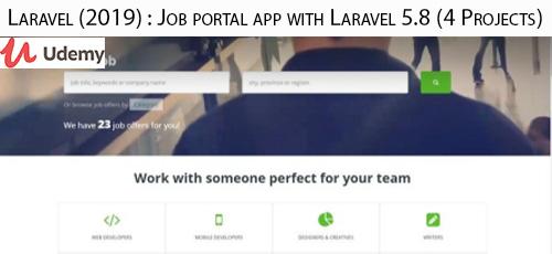5 27 - دانلود Udemy Laravel (2019) : Job portal app with Laravel 5.8 (4 Projects) آموزش ساخت اپ پرتال شغل با لاراول