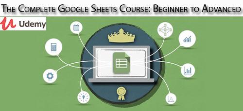 8 1 - دانلود Udemy The Complete Google Sheets Course: Beginner to Advanced آموزش کامل مقدماتی تا پیشرفته گوگل شیت