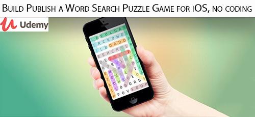 17 - دانلود Udemy Build Publish a Word Search Puzzle Game for iOS, no coding آموزش ساخت بازی جدول کلمات برای آی او اس بدون کد نویسی