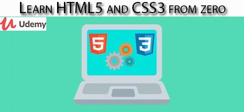 1 28 - دانلود Udemy Learn HTML5 and CSS3 from zero آموزش مقدماتی اچ تی ام ال 5 و سی اس اس 3